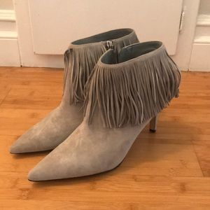 Sam Edelman Pointy Toe Suede Fringe Booties